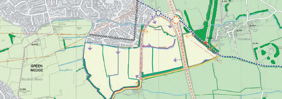 Boulton Moor highway planning